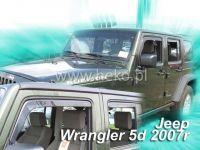 Plexi, ofuky JEEP Wrangler 5D 2007 =>, přední HDT