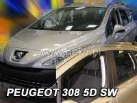Plexi, ofuky PEUGEOT 308 SW, 5D, 2007 =>, přední + zadní HDT