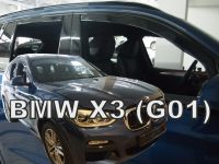 Ofuky plexi BMW X3 G01 5D 2017r =>, přední+zadní