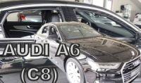 Ofuky plexi Audi A6 5D 2018r =>, přední+zadní sedan