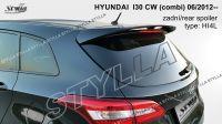 Spoiler, křídlo zadní kapoty na míru pro Hyundai i30 CW MK2 combi 06.2012r =>