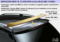 Spoiler, křídlo zadní kapoty na míru pro Mercedes Benz M–Class W164 (ML63 AMG) MK2 SUV 1.2006r =>