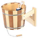 Polévací vědro do sauny Kontrast, 16 L, lípa a  plast