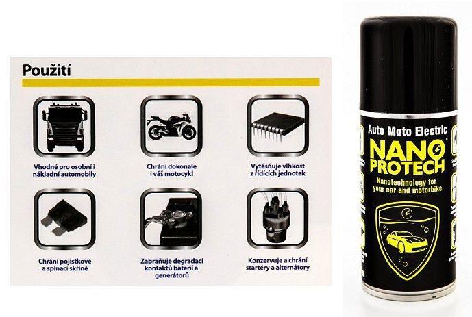 Nanoprotech Auto Moto Electric byl vyvinut s ohledem na specifické podmínky používání a provozování automobilů a motocyklů