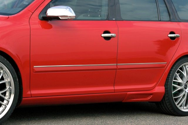 Boční ozdobné lišty, ušlechtilá ocel, Škoda Octavia II Lim./Combi, Škoda Octavia II Facelift Lim./Combi