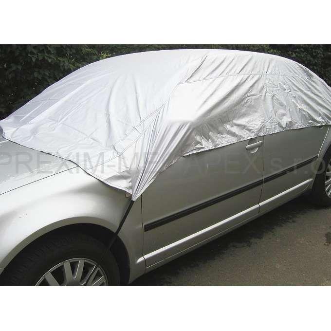 Ochranná autoplachta pulgaráž M 265x165x58 cm, šedá stříbrná