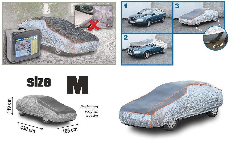 Univerzální celoroční ochranná autoplachta proti krupobití na celé auto, M 430×165×119cm
