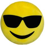 Polštář do auta Smajlík Smile Steel Žlutý 100% Polyamid