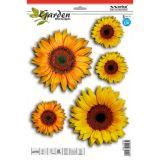 SAMOLEPÍCÍ DEKORY slunečnice, sada