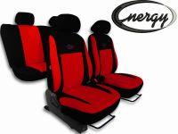 Autopotahy Energy červené set na celé auto