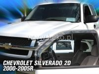 Plexi, ofuky Chevrolet Silverado 2D 2000-2005, přední HDT