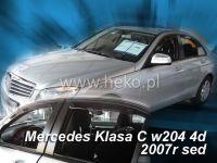 Plexi, ofuky MERCEDES C sedan, W204, 4D, 3/2007r, přední + zadní HDT