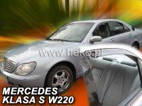 Plexi, ofuky MERCEDES S sedan W220, 4D, 1999r, => přední + zadní HDT