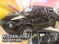 Plexi, ofuky bočních skel NISSAN JUKE 5D, 2010 =>, přední + zadní HDT