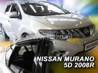 Plexi, ofuky bočních skel NISSAN Murano 5D, 2008 =>, přední + zadní HDT
