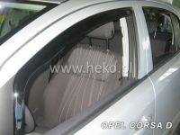 Plexi, ofuky OPEL Corsa D 5D, 2006 =>, přední + zadní HDT