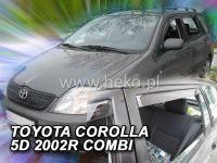 Plexi, ofuky Toyota Corolla 5D 2002-2007 combi, přední + zadní HDT