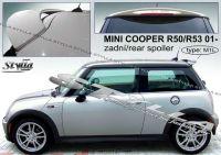 Zadní spoiler křídlo a střešní pro MINI Cooper R50+R53 2001r =>