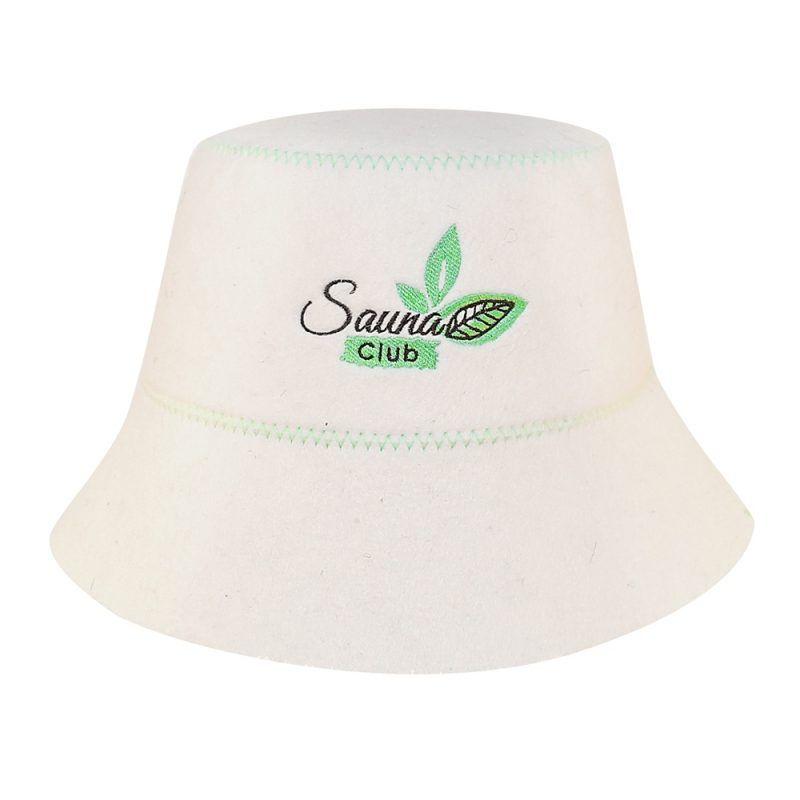 """Klobouk do sauny """"SAUNA club"""" 100% přírodní vlny Sotra"""