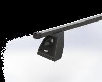Střešní nosič ŠKODA OCTAVIA II 5dv hatchback s fixačním bodem, černá Fe tyč