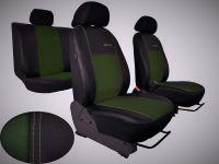 Autopotahy Volkswagen Amarok, kožené s alcantarou EXCLUSIVE zelené