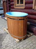 Ochlazovací káď k sauně s kompozitní vložkou (modrá), Thermowood, 68x130cm
