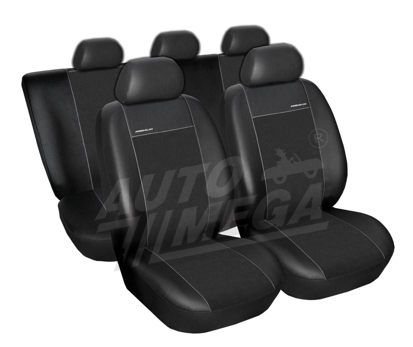 Autopotahy Opel Meriva I, od r. 2004, Eco kůže + alcantara černé