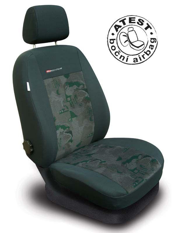 Autopotahy Škoda Fabia II, dělená, zelené