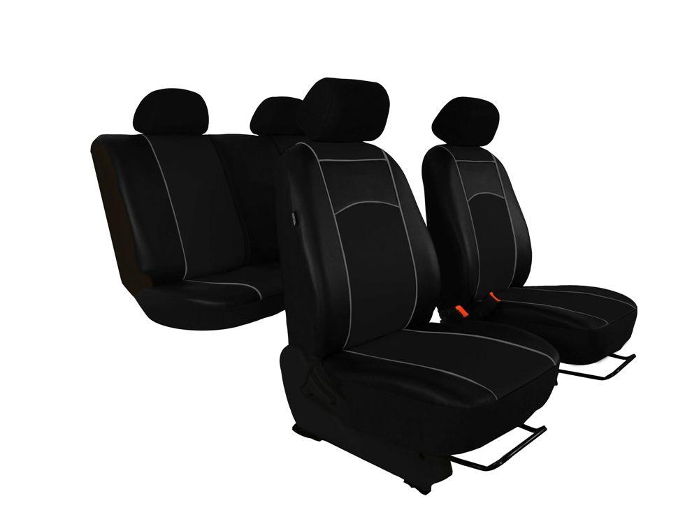 Autopotahy Škoda Octavia III, kožené Tuning, bez zadní loketní opěrky, černé