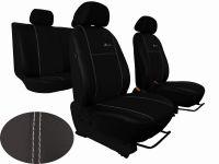 Autopotahy Peugeot Boxer II, 3 místa, stolek, kožené EXCLUSIVE, černé