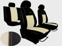 Autopotahy Peugeot Boxer II, 3 místa, stolek, kožené EXCLUSIVE, béžové