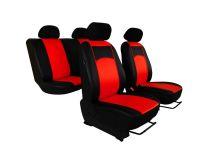 Autopotahy Peugeot Boxer II, 3 místa, stolek, od r. 2006,kožené TUNING, červené