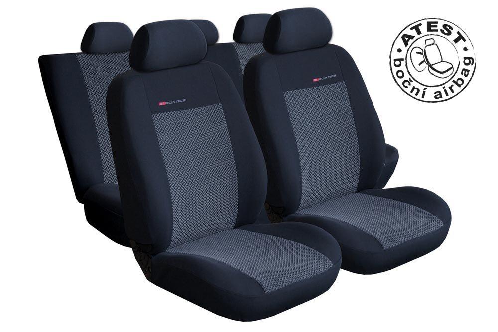 Autopotahy Seat Alhambra II, od r. 2010, 5 míst, dětská sedačka,šedo černé