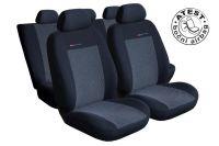 Autopotahy Volkswagen Sharan II, od r. 2010, 5 míst, dětská sedačka, šedo černé