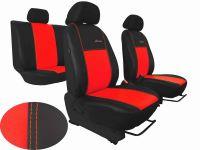 Autopotahy kožené Volkswagen Multivan T4, 3 místa, EXCLUSIVE červené