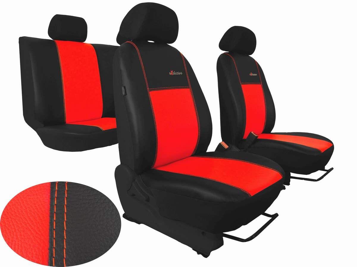 Autopotahy na míru kožené Volkswagen Multivan T4, 3 místa, EXCLUSIVE červené Vyrobeno v EU