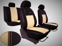Autopotahy Volkswagen Multivan T4, 3 místa, EXCLUSIVE kožené s alcantarou, béžové