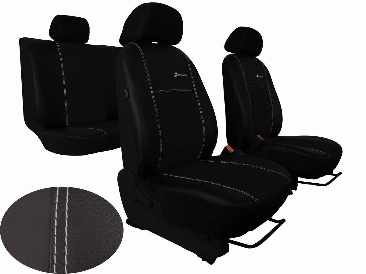 Autopotahy na míru kožené Volkswagen Multivan T4, 3 místa, EXCLUSIVE černé Vyrobeno v EU