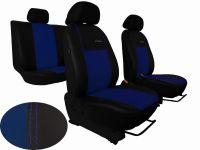 Autopotahy kožené Volkswagen Multivan T4, 3 místa, EXCLUSIVE modré