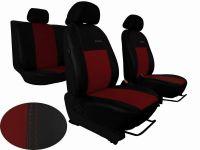 Autopotahy kožené Volkswagen Multivan T4, 3 místa, EXCLUSIVE, vínové