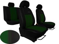 Autopotahy Volkswagen VW T5, 3 místa, kožené EXCLUSIVE, zelené