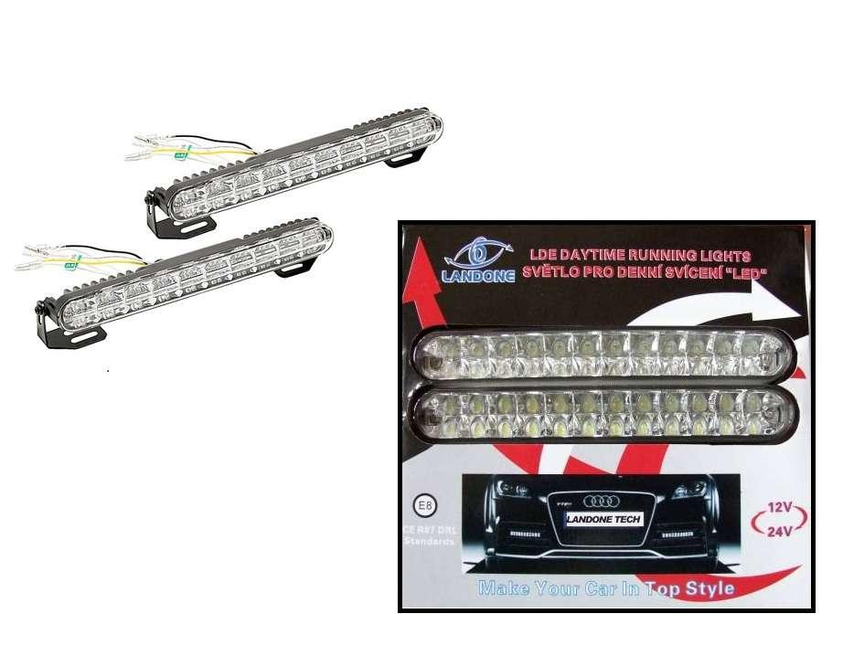 Led světla pro denní svícení 24 LED jak pro 12V tak i 24V 12V