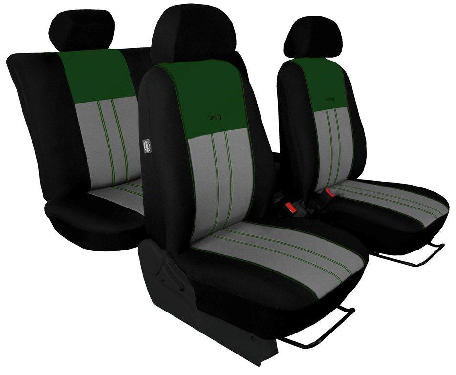 Autopotahy Ford C- MAX I, od r. 2003-2010, 5 míst, DUO TUNING zelenošedé