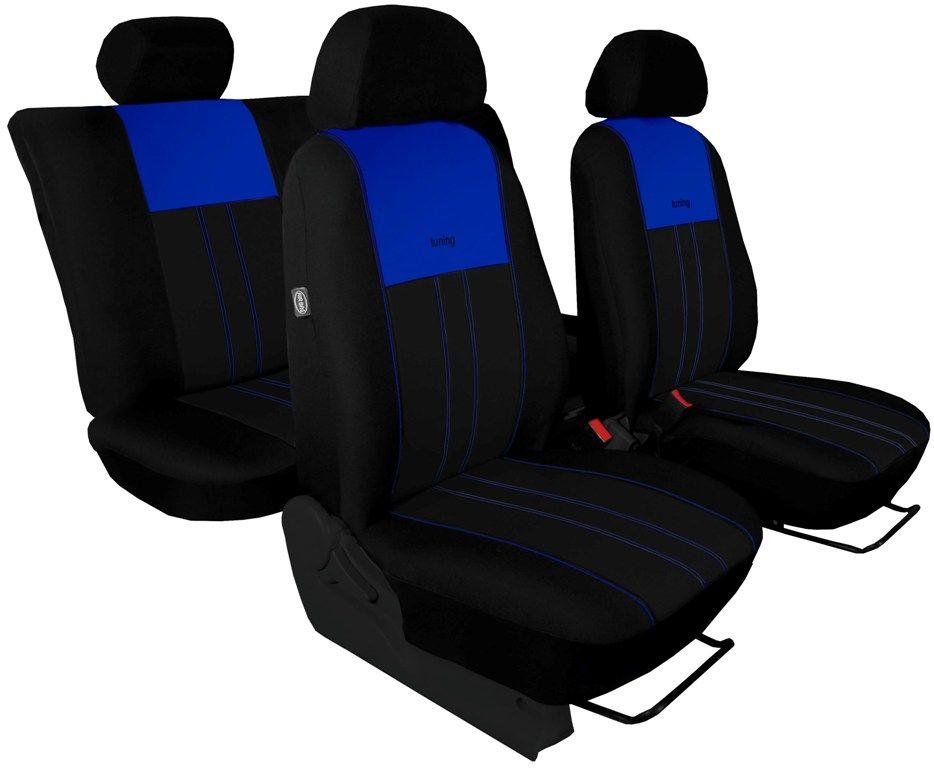 Autopotahy Škoda Octavia III, Tuning Duo, bez zadní loketní opěrky, modročerné
