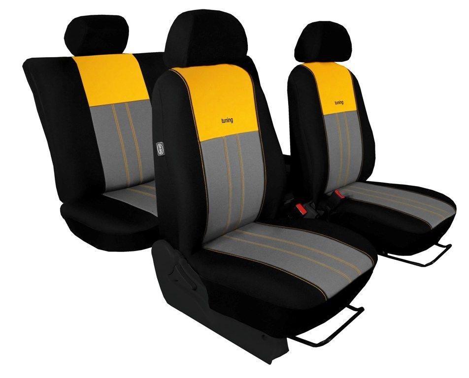 Autopotahy Škoda Octavia III, Tuning Duo, bez zadní loketní opěrky, žlutošedé