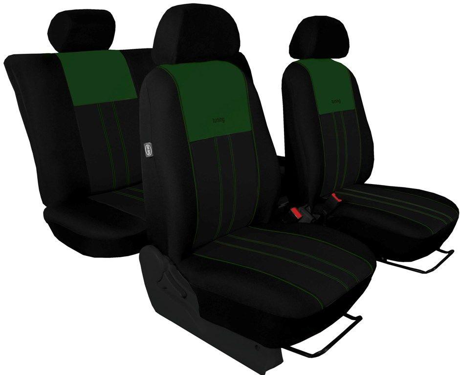 Autopotahy Škoda Octavia III, Tuning Duo, bez zadní loketní opěrky, zelenočerné