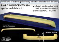 Zadní spoiler horní zadní pro FIAT Cinquecento 1991-1998r