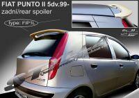 Zadní spoiler horní zadní pro FIAT Punto II 5dv, 1999r =>