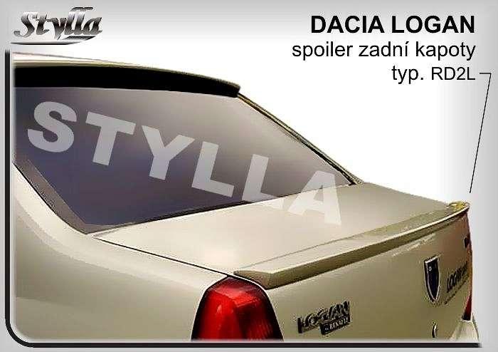 Spoiler, křídlo zadní kapoty na míru pro DACIA Logan 2004r =>