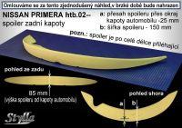 Zadní spoiler křídlo pro NISSAN Primera htb 2002r =>